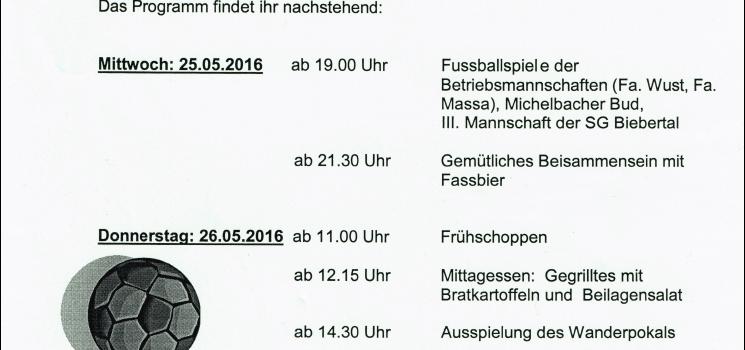 Einladung zum Wüschheimer Dorfturnier 2016