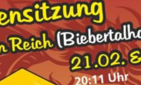Kappensitzung in Reich